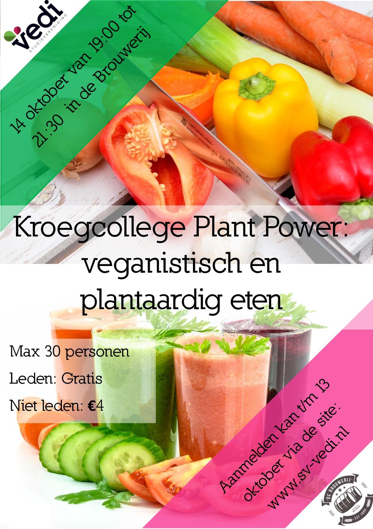 Kroegcollege veganistisch en plantaardig eten